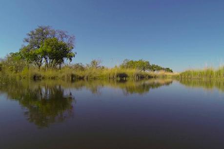 Paisaje del Delta del Okavango.
