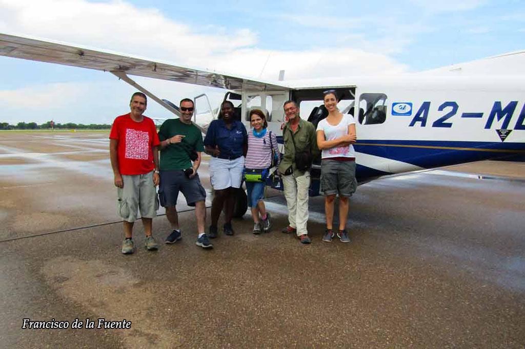 Vuelo sobre el Okavango.