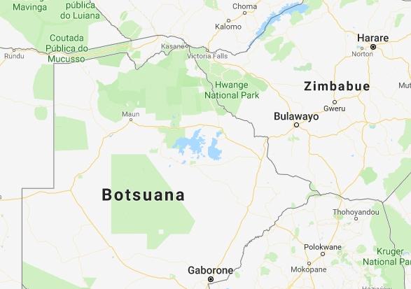 Mapa de Sudáfrica.