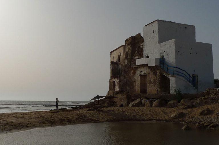 Casa típica en la playa de Sidi Kaouki.