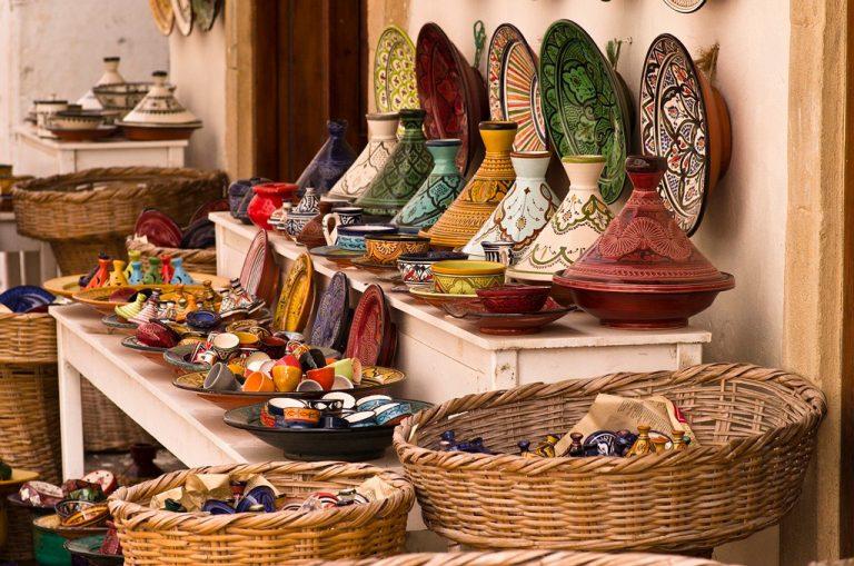 Cerámica en el zoco de Marrakech.