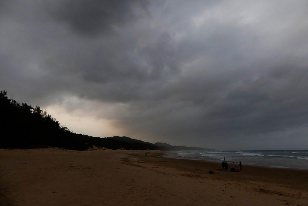 Atardecer en la playa de Cape Vidal.